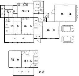 [一戸建] 兵庫県姫路市広畑区西夢前台7丁目 の賃貸【/】の間取り