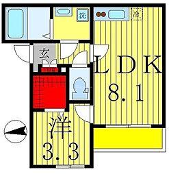 TownhouseV 3階1LDKの間取り