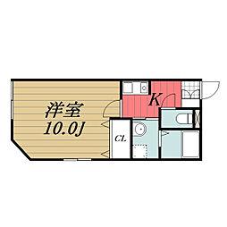 千葉県印旛郡酒々井町中川の賃貸アパートの間取り