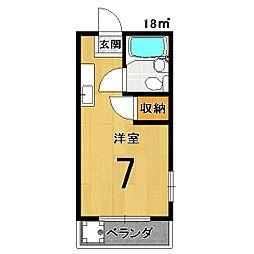 百合マンション[502号室]の間取り