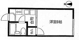メゾンフジI[202号室号室]の間取り