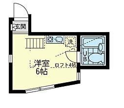 ユナイト 船越リッキーの杜[2階]の間取り