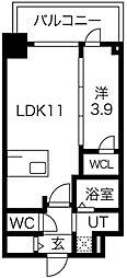 プレサンス京町堀 5階1LDKの間取り