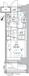 JR京浜東北・根岸線 川崎駅 徒歩8分の賃貸マンション 5階1Kの間取り