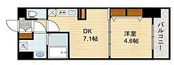 スプランディッド新大阪キャトル[6階]の間取り