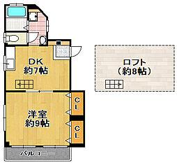 権藤マンション[3階]の間取り