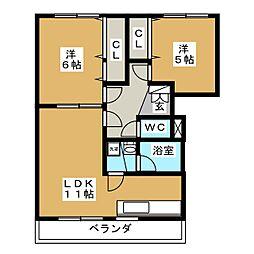 ベターアール06 A棟[1階]の間取り