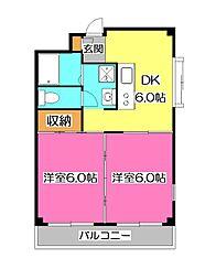 Uコート[2階]の間取り