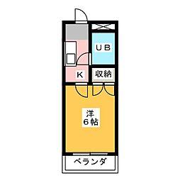 シンセア静岡[2階]の間取り