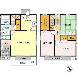 [テラスハウス] 兵庫県神戸市西区白水1丁目 の賃貸【兵庫県 / 神戸市西区】の間取り