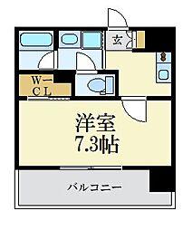 LANDIC 美野島3丁目 14階1Kの間取り