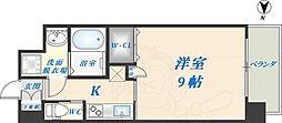 Forest Grace 高井田1 7階1Kの間取り
