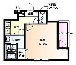 フジパレス駒川中野II番館[301号室号室]の間取り