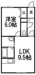 カーナ・ハギナカ(曙)[201号室]の間取り
