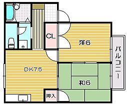 サンソレイユ I[2階]の間取り