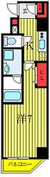 ユリカロゼAZ西台 2階1Kの間取り