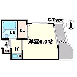 ホープ千里山[2階]の間取り