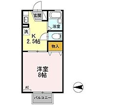 静岡県三島市徳倉2丁目の賃貸アパートの間取り