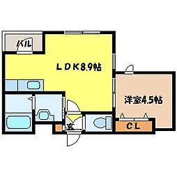 北海道札幌市北区北十二条西2丁目の賃貸マンションの間取り