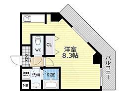 TOYOTOMI STAY PREMIUM 天王寺公園南3 7階1Kの間取り