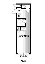 東京都練馬区高野台2丁目の賃貸マンションの間取り