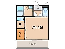 静岡県三島市幸原町2丁目の賃貸マンションの間取り