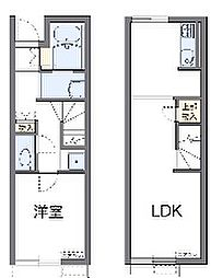 千葉県千葉市花見川区作新台6丁目の賃貸アパートの間取り