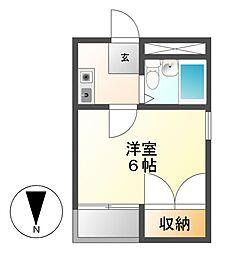 レオパレスRX岩塚第2[4階]の間取り