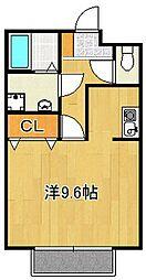 大阪府摂津市鳥飼上3丁目の賃貸アパートの間取り