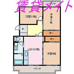 クレール船江山[1階]の間取り