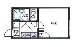 神奈川県横浜市旭区中沢1丁目の賃貸アパートの間取り