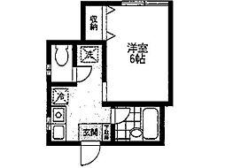 第2岩田ビル[2階]の間取り