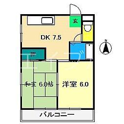 マリーハウス[2階]の間取り