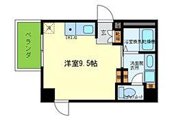 Osaka Metro千日前線 玉川駅 徒歩1分の賃貸マンション 4階ワンルームの間取り