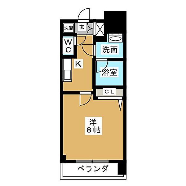 ルクレ新栄レジデンス[8階]の間取り