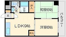 上新庄グランドハイツ北[8階]の間取り