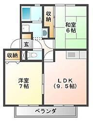 ALLEY島泉131[1階]の間取り