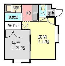 アパートメントリゲル[101号室]の間取り