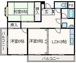シンセリティ山崎[205号室]の間取り