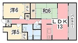ライオンズマンション姫路市役所前[3階]の間取り