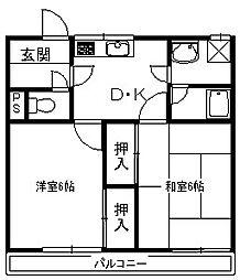 豊岡市野田 ドリームマンション5&5[3階]の間取り