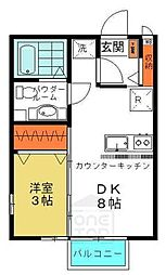 群馬県高崎市高関町の賃貸アパートの間取り