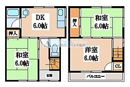 [一戸建] 大阪府八尾市楠根町3丁目 の賃貸【/】の間取り
