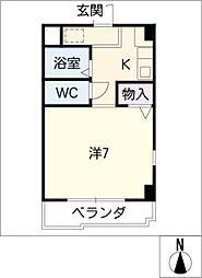 ヤング・ビレッジ2[1階]の間取り