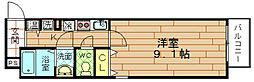 セレブコート弁天[8階]の間取り