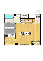 Apartment繭[203号室]の間取り