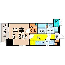エステムプラザ名古屋丸の内[3階]の間取り