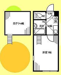 Quatre-toileII[0103号室]の間取り
