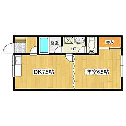 セイントハウス[2-3号室]の間取り