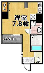 ボナールIZUMI[3階]の間取り